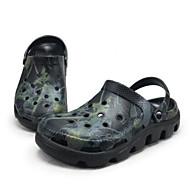 メンズ 下駄とミュール コンフォートシューズ 穴の靴 カップルの靴 ラバー 春 カジュアル ホワイト ブラック グレー フラット