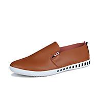 Для мужчин Топ-сайдеры Удобная обувь Мокасины Светодиодные подошвы Полиуретан Весна Лето ПовседневныеУдобная обувь Мокасины Светодиодные