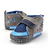 Gyermek Baba Papucsok & Balerinacipők Első cipő Szövet Nyár Ősz Hétköznapi Ruha Party és Estélyi Első cipő Kombinált Lapos Kék Lapos