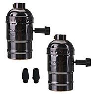 2 db e26 / e27 foglalat csavaros izzók Edison retro medál lámpa kapcsolóval 110-240V a lámpa vagy lámpatest cseréje diy projektek