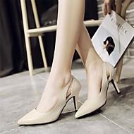 Ženske Cipele na petu Udobne cipele Obične salonke Prava koža Proljeće Ljeto Kauzalni Udobne cipele Obične salonke Crn Bež 5 cm - 7 cm
