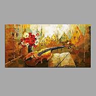 Ζωγραφισμένα στο χέρι Νεκρή Φύση Horizontal,Μοντέρνα Κλασσικά Μονόπτυχα Καραβόπανο Hang-ζωγραφισμένα ελαιογραφία For Αρχική Διακόσμηση