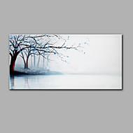 Pintados à mão Paisagem Horizontal,Moderna 1 Painel Pintura a Óleo For Decoração para casa