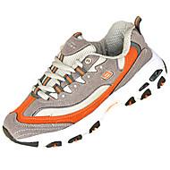 """בנים נעלי אתלטיקה נוחות PU אביב סתיו שטח שרוכים עקב שטוח לבן שחור אפור ירוק מתחת ל 2.54 ס""""מ"""
