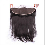 7A Silk Straight Brazilian Human 13x2 Silk Full Lace Frontal Closure Ear to Ear