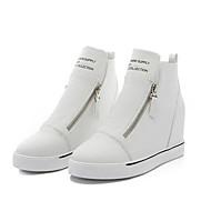 Damen Sneaker Komfort Leuchtende Sohlen PU Frühling Sommer Herbst Winter Normal Walking Komfort Leuchtende Sohlen Reißverschluss