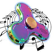 Handkreisel Handspinner Spielzeuge Tri-Spinner LED Spinner Metall EDCBluetooth Lautsprecher Stress und Angst Relief Büro Schreibtisch