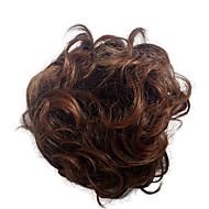 Chignons perna sintética curly extensão do cabelo bridal updo pony tail para mulheres