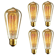 5ks st64 e27 40w žárovka vintage edison žárovka pro restaurační klub kavárny světlo ac110-130v
