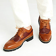 Men's Shoes Leather Spring Summer Fall Winter Comfort Bullock shoes Oxfords Lace-up For Casual Black Brown Yellow