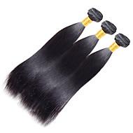 인모 인도인 헤어 인간의 머리 직조 야키 헤어 익스텐션 1개 흑옥색