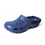 Homme Sandales Confort trou Chaussures Gomme Printemps Décontracté Noir Café Bleu Plat