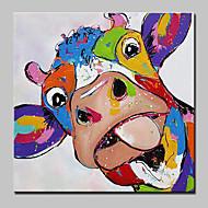 Handgemalte TierAbstrakt Art déco/Retro Zeichentrick Modern/Zeitgenössisch lieblich Ein Panel Leinwand Hang-Ölgemälde For Haus Dekoration