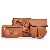 női táska állítja pu minden évszakban sport alkalmi irodai&karrier hordó mágneses barna, vörös, fekete, fehér, zöld