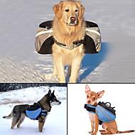 Hund Hunde Veske Kæledyr Transportbedrifter Justerbare/Uttrekkbar Reflekterende Bærbar Ensfarget Grå Blå