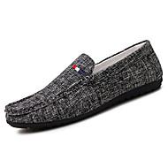 Herren Loafers & Slip-Ons Komfort PU Frühling Herbst Komfort Schwarz Grau Flach