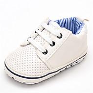 Baby Platte schoenen Comfortabel Kunstleer Lente Herfst Bruiloft Causaal Feesten & Uitgaan Comfortabel Elastiek Platte hak Wit Plat