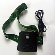 Lanternas de Cabeça LED 300 Lumens 1 Modo LED Li-on Mini Bateria Recarregável Sensor infravermelho Emergência G-SensorCampismo / Escursão