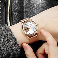 Dames Skeleton horloge Modieus horloge mechanische horloges Automatisch opwindmechanisme Waterbestendig s Nachts oplichtendRoestvrij