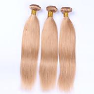 Emberi haj Perui haj Precolored Hair sző Egyenes Póthajak 3 darab Eperszőke
