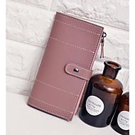 여성 머니 클립 PU 사계절 캐쥬얼 스냅 블랙 페일 핑크 그린