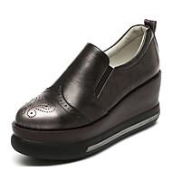 Dames Sneakers Comfortabel Leer Herfst Causaal Comfortabel Grijs Rood 7,5 - 9,5 cm
