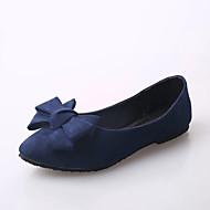 여성 로퍼&슬립-온 컴포트 조명 신발 PU 봄 여름 캐쥬얼 드레스 컴포트 조명 신발 플랫 블랙 레드 블루 2.5cm 이하