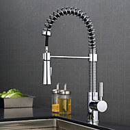 Contemporary Centerset Pullout Spray with  Ceramic ValveChrome , Kitchen faucet