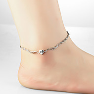 Charm Silver Women's Boho Summer Vacation Anklet Leg Chain Wing Foot Chain Jewelry