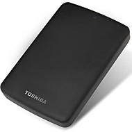 Toshiba 1tb 2.5 inch usb3.0 plastic zwart indicator licht matte textuur externe harde schijf