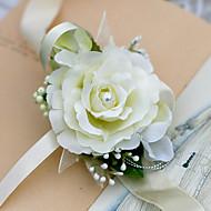 """פרחי חתונה זר פרחים לפרק כף יד חתונה שיפון 3.15""""(לערך.8ס""""מ)"""