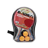 Ping Pang/Tischtennis-Schläger Ping Pang/Tischtennisball Ping Pang Gummi Langer Griff Pickel2 Schläger 3 Tischtennisbälle 1
