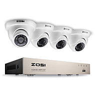 Zosi® 2.0mp 1080p hd 4 ch dvr tvi kit de supraveghere 4pcs 2000tvl outdoor night vision camera aparat de fotografiat cctv
