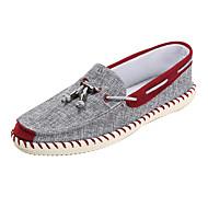 Férfi Vitorlás cipők Kényelmes Könnyű talpak Szövet Tavasz Ősz Hétköznapi Lapos Kék Burgundi vörös Lapos