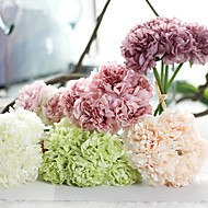 1 Peça 1 Ramo Seda Poliéster Peônias Flor de Mesa Flores artificiais