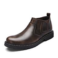 Heren Sneakers Comfortabel Modieuze laarzen Enkellaarsjes PU Herfst Causaal Comfortabel Modieuze laarzen Enkellaarsjes BlokhakGrijs