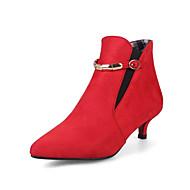 Damer Støvler Gladiator Modestøvler Støvle Kashmir Forår Efterår Formelt Gladiator Modestøvler Støvle Spænde Kæde Elastik KillingehælSort