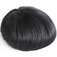 Męskie torebki prawdziwe ludzkie włosy dla mężczyzn # 1 perukę ludzką do włosów