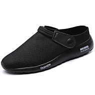 Men's Clogs & Mules Comfort Summer Tulle Outdoor Flat Heel Gray Black/Silver Blue Black/White Under 1in
