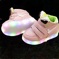 Fille Baskets Chaussures Lumineuses Cuir Similicuir Printemps Eté Automne Décontracté Marche Chaussures Lumineuses Scotch Magique LED