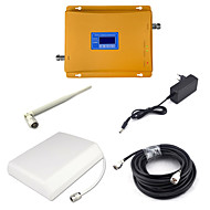 2g gsm 900mhz 4g dcs 1800mhz dual band signaal booster mobiele telefoon signaal repeater met paneel antenne / zweep antenne / 15m kabel /