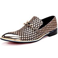 Unisexe Chaussures Cuir Nappa Automne Hiver Chaussures formelles Oxfords Randonnée Bout Métallique Pour Décontracté Habillé Soirée &