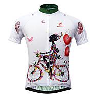 JESOCYCLING Jerseu Cycling Pentru femei Manșon scurt Bicicletă Jerseu TopuriUscare rapidă Rezistent la Ultraviolete Fermoar Față