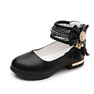 Para Meninas Rasos Conforto Sapatos para Daminhas de Honra Couro Couro Ecológico Verão Outono SocialConforto Sapatos para Daminhas de