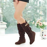 Women's Shoes PU Fall Comfort Boots With For Casual Black Brown
