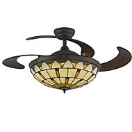 42インチの天井のファンティファニーは、リビングルームのベッドルームのコーヒーバーdimmableのためのファンの光を導いた