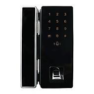 自由な開口部自動ロックダブルオープンフレームガラスドアロック指紋ロックパスワードカードロック単一のオープンインテリジェントな電子アクセスコントロール