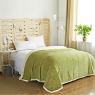 超柔らかい 純色 ポリエステル 毛布