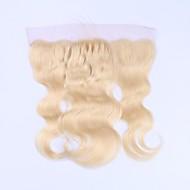 Cabelo beata cabelo humano remy 613 loira loira fechamento frontal pre-arrumado corpo onda 13x4 renda transparente com cabelo do bebê