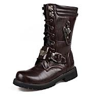 Miehet Bootsit Comfort Uutuus Muotisaappaat Maiharit Synteettinen mikrokuitu PU PU Syksy Talvi Kausaliteetti Juhlat KävelyKoristehelmillä